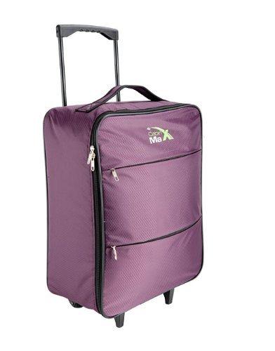 Sac Cabine-Max-Stockholm-Sac--roulettes-le-plus-leger-au-monde-145kg-55x40x20cm-capacite-44l-violet-0
