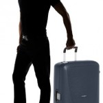 Valise Samsonite Termo Young bleue 82 cm 120L debout