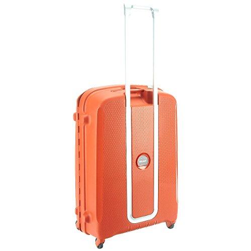 Valise Delsey Belfort 60 cm 58 litres orange poignee retractable