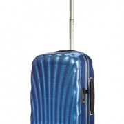 Valise cabine Samsonite Cosmolite bleue dark blue poignee telescopique