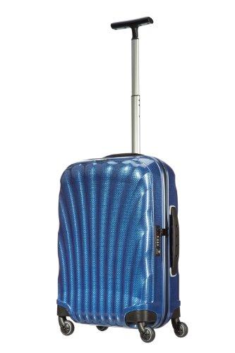 Valise cabine Samsonite Cosmolite bleue dark blue poignee telescopique