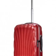 Valise cabine Samsonite Cosmolite rouge red poignee telescopique