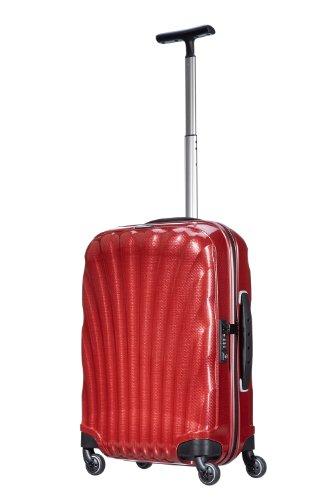 Valise cabine Samsonite Cosmolite rouge red poignee telescopique
