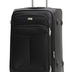 Valise cabine Alistair One 55cm Toile Nylon Ultra leger 4 Roues noir
