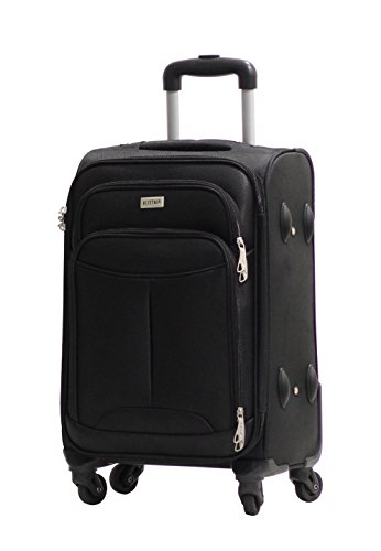 Valise Alistair One 65cm noire Toile Nylon Ultra Leger 4 Roues