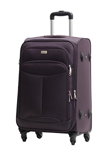 Valise Alistair One 65cm violet Toile Nylon Ultra Leger 4 Roues