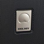 Valise cabine Delsey Stratus coque rigide logo