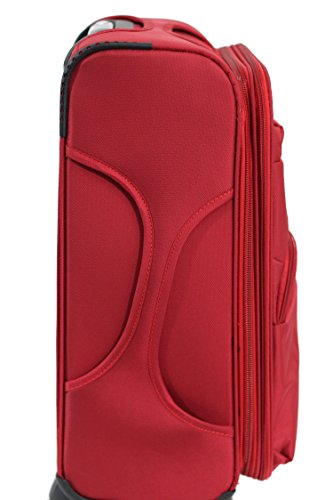 Valise Alistair plume 75 cm rouge