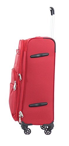 Valise souple Alistair Plume 65 cm rouge