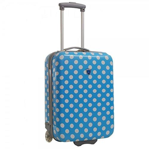 Valise cabine femme Madisson 50 cm bleu blanc