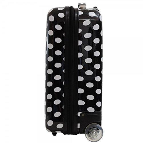 Valise cabine femme Madisson 50 cm noire blanc