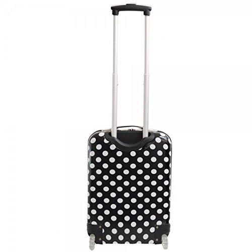Valise cabine femme Madisson 50 cm noir blanc trolley retractable