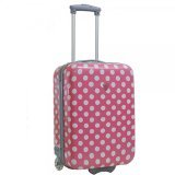 Valise cabine femme Madisson 2 roues rose blanc