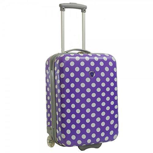 Valise cabine femme Madisson 2 roues violet blanc