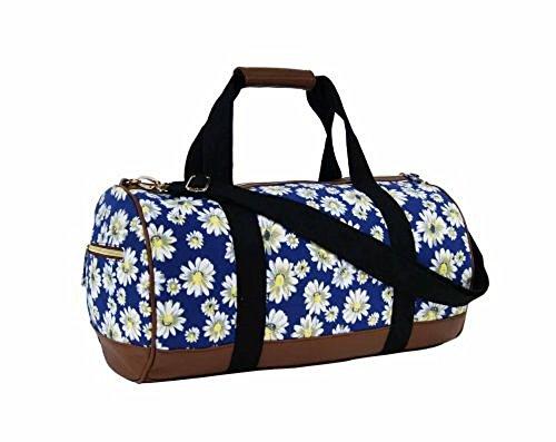 Sac Jazzi bleu marine motif fleur marguerite