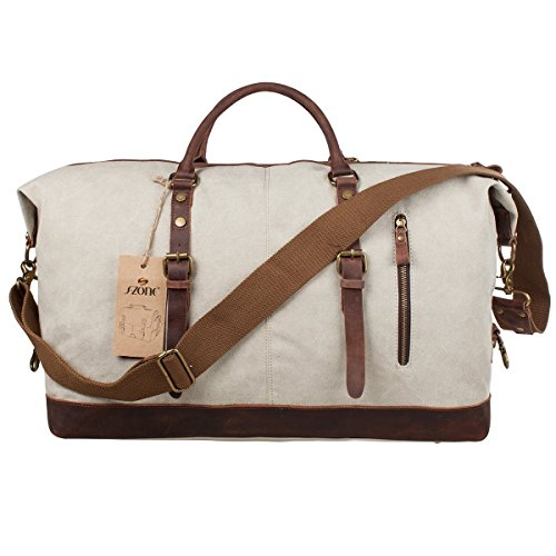 Sac S ZONE toile bandouliere cuir