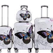 2060 Set de 3 valises papillon