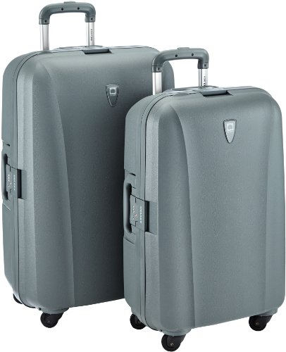 bagages de voyage set de valises delsey dom polypro gris. Black Bedroom Furniture Sets. Home Design Ideas