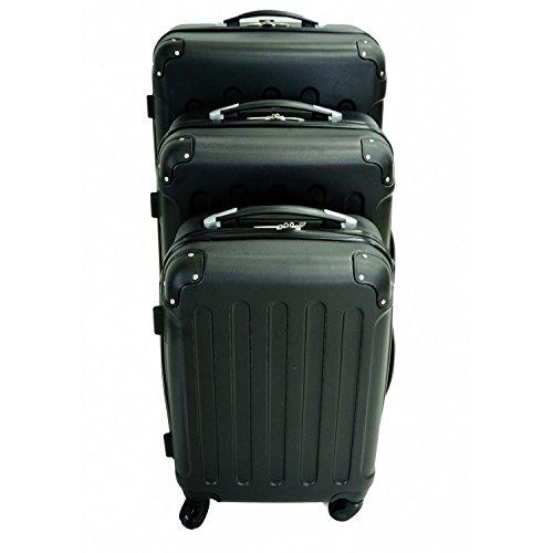set de trois valises trolley noires