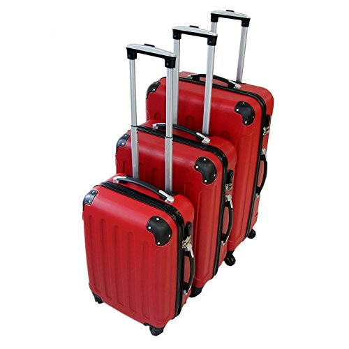 set de valises Todeco rouge