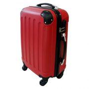 lot de trois valises Todeco rouge