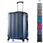 Lot de trois valises rigides bleu Woltu