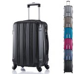Lot de bagages rigides noirs Woltu