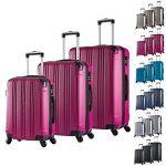Set de trois valises WOLTU roses